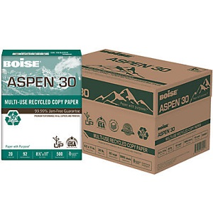 Boise 054901 ASPEN 30 Multi-Use Recycled Paper