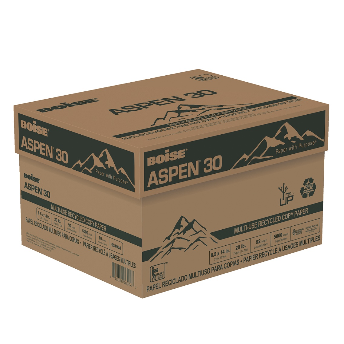 Boise 054904 ASPEN 30 Multi-Use Recycled Paper