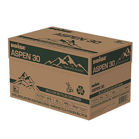 Boise 054907 ASPEN 30 Multi-Use Recycled Paper
