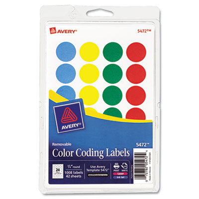 Avery 05472 Color Coding Labels