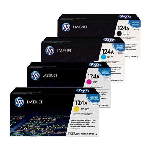 HP 124A Toner Cartridge Bundle