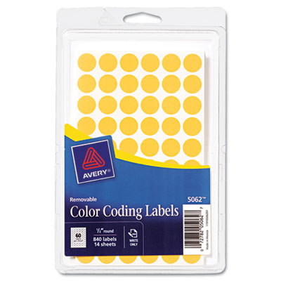 Avery 05062 Color Coding Labels