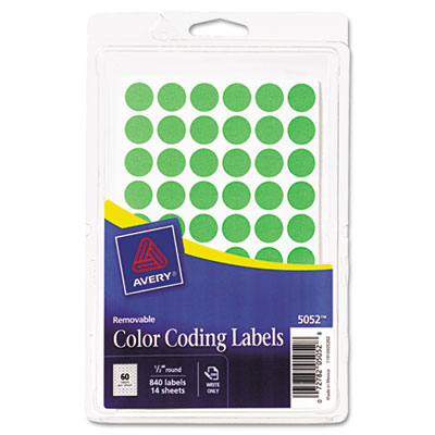 Avery 05052 Color Coding Labels