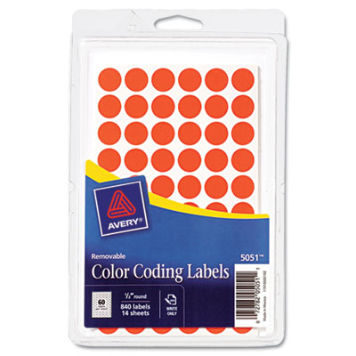 Avery 05051 Color Coding Labels