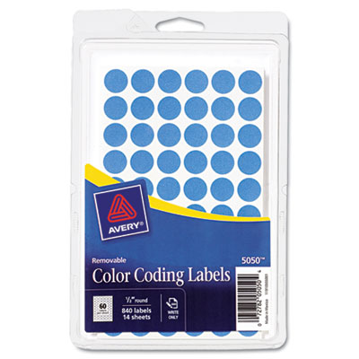 Avery 05050 Color Coding Labels
