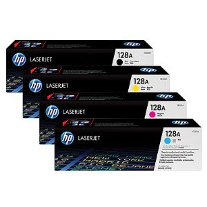 HP 128A Toner Cartridge Bundle
