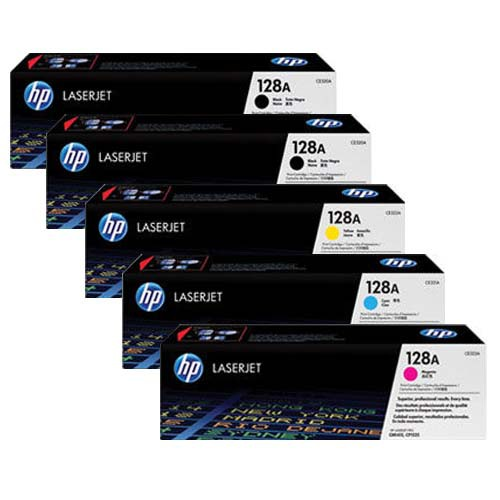 HP 128AD Toner Cartridge Bundle