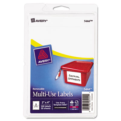 Avery 05444 Removable Multi-Use Labels