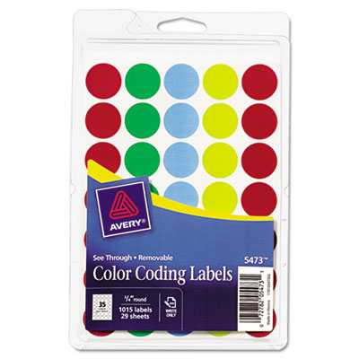 Avery 05473 Color Coding Labels