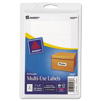 Avery 05436 Removable Multi-Use Labels