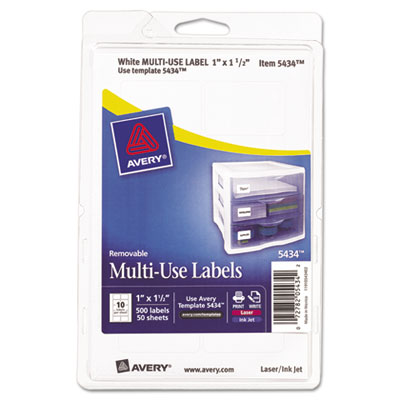 Avery 05434 Removable Multi-Use Labels