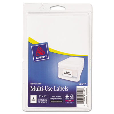 Avery 05453 Removable Multi-Use Labels
