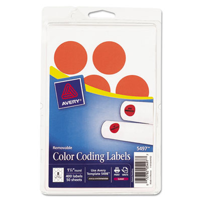 Avery 05497 Color Coding Labels