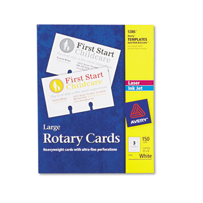 Avery 5386 Printable Rotary Cards