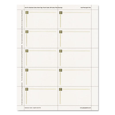Geographics 47367S Capital Gold Foil Design Premium Business Cards