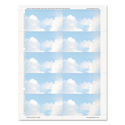Geographics 47372S Clouds Design Business Suite Business Cards