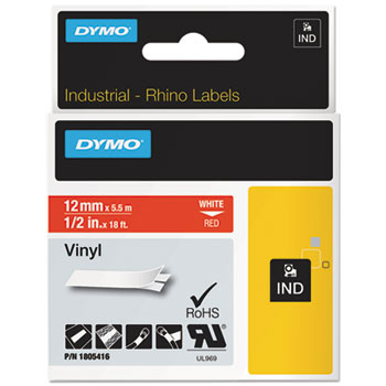 Dymo 1805416 Red Vinyl Labels