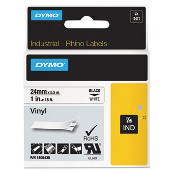 Dymo 1805430 White Vinyl Labels