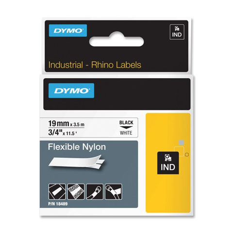 Dymo 18489 Flexible Nylon Labels