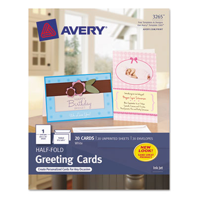 Avery 3265 Greeting Cards with Matching Envelopes