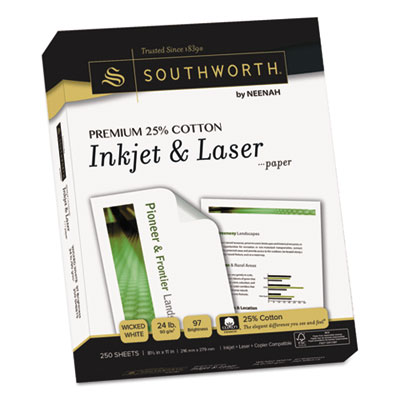 Southworth J344C Premium 25% Cotton Inkjet and Laser Paper