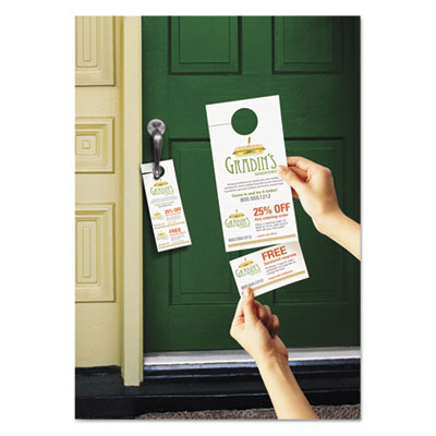 Avery 16150 Door Hanger with Tear-Away Cards