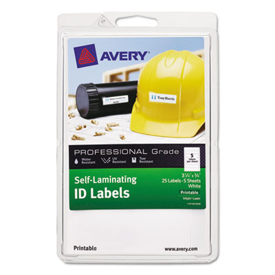 Avery 00760 Self-Laminating ID Labels