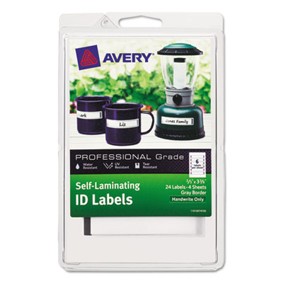 Avery 00747 Self-Laminating ID Labels