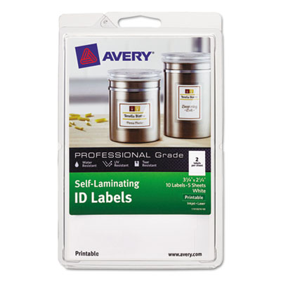 Avery 00761 Self-Laminating ID Labels