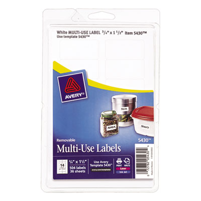 Avery 05430 Removable Multi-Use Labels