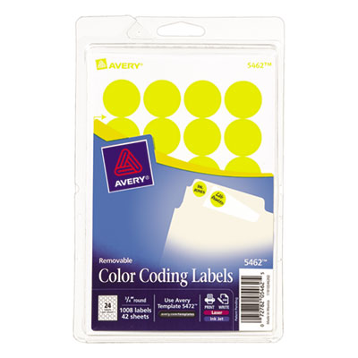 Avery 05462 Color Coding Labels
