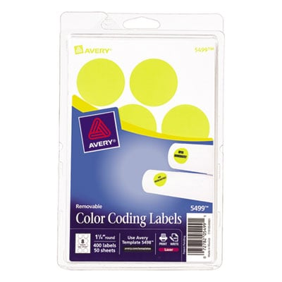 Avery 05499 Color Coding Labels