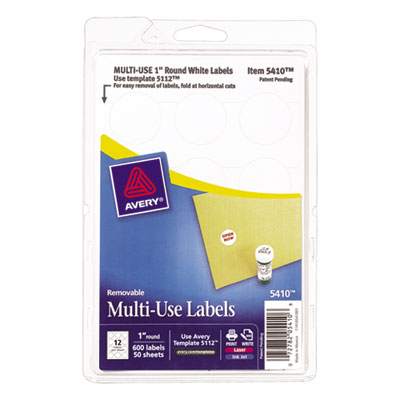 Avery 05410 Removable Multi-Use Labels