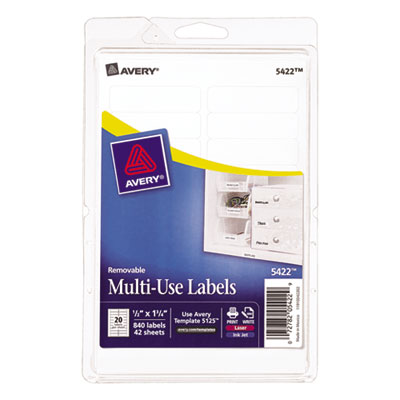 Avery 05422 Removable Multi-Use Labels