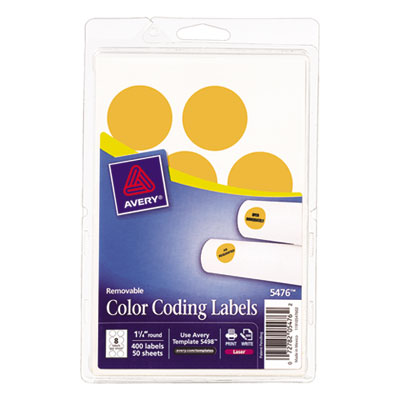 Avery 05476 Color Coding Labels