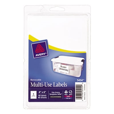 Avery 05454 Removable Multi-Use Labels