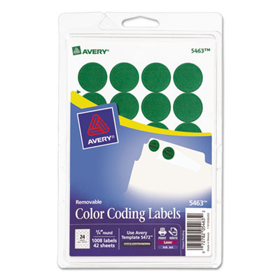 Avery 05463 Color Coding Labels