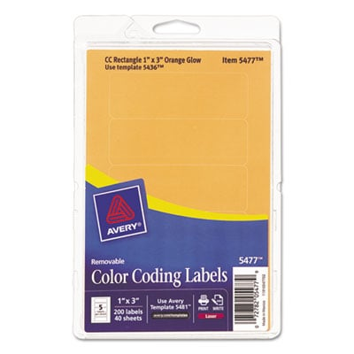 Avery 05477 Color Coding Labels