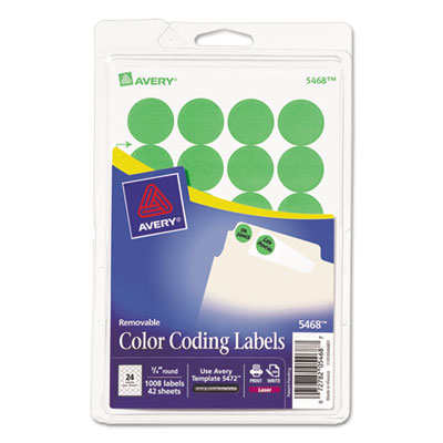 Avery 05468 Color Coding Labels