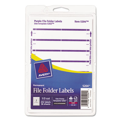 Avery 05204 File Folder Labels