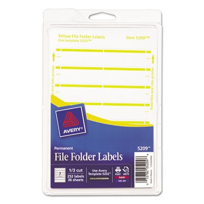 Avery 05209 File Folder Labels