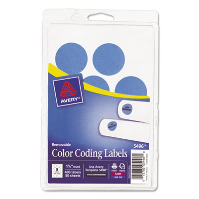 Avery 05496 Color Coding Labels