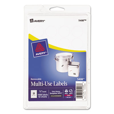 Avery 05408 Removable Multi-Use Labels