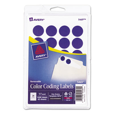 Avery 05469 Color Coding Labels