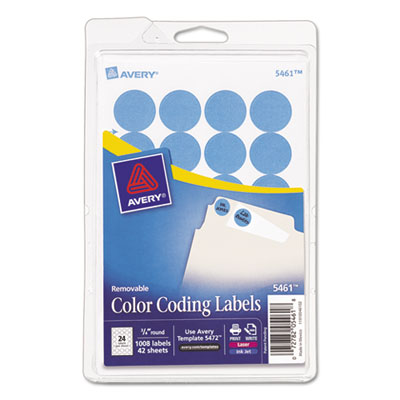 Avery 05461 Color Coding Labels