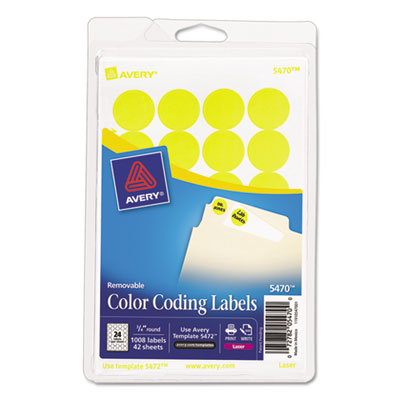 Avery 05470 Color Coding Labels