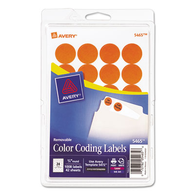 Avery 05465 Color Coding Labels