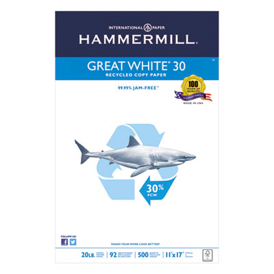 Hammermill 86750 Great White 30 Recycled Copy Paper