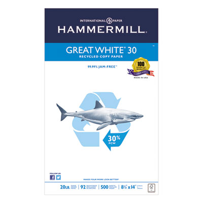 Hammermill 86704 Great White 30 Recycled Copy Paper