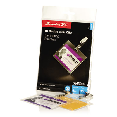 Swingline 3745686 Swingline SelfSeal Self-Adhesive Laminating Pouches & Single-Sided Sheets